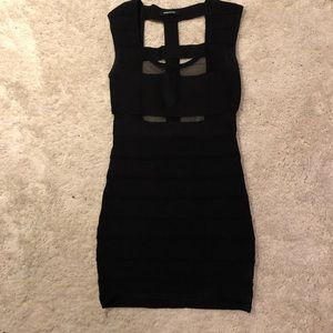 Wow contour black bandage dress